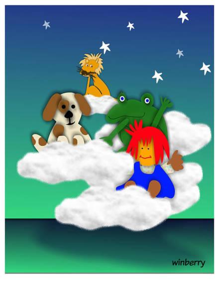 Digital Art - Cloud Kids by Bob Winberry
