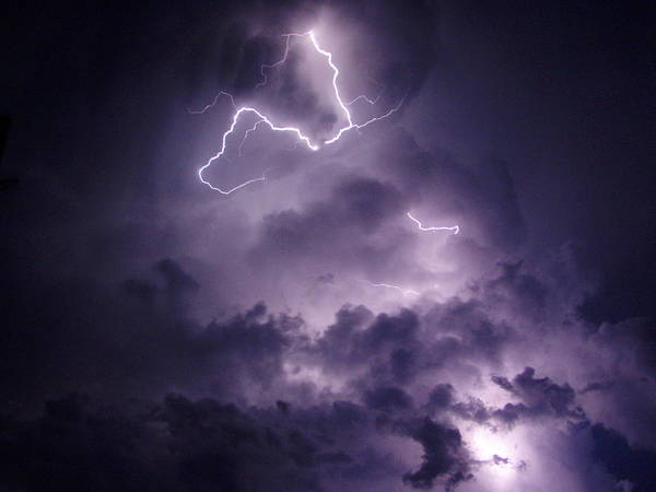 Photograph - Cloud Lightning by James Peterson