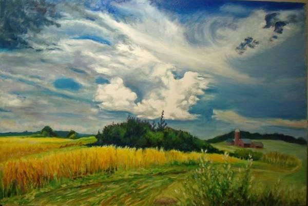 Painting - Cloud Short Visit by Nicolas Bouteneff