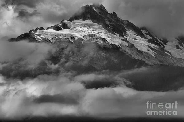 Photograph - Cloud Smothered Peaks by Adam Jewell