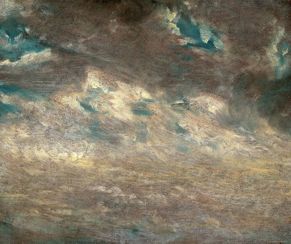 Light Blue Drawing - Cloud Study Study Of Altocumulus Clouds Back Septr 13th One by Litz Collection