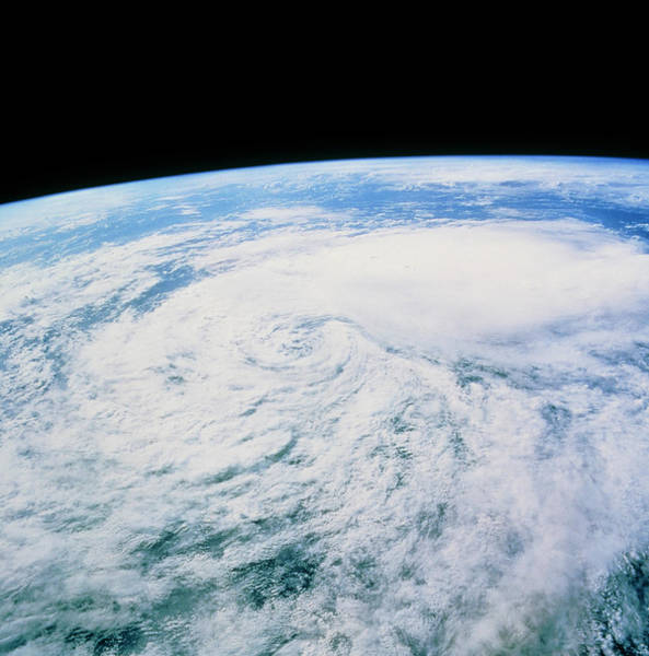 Tropical Cyclone Wall Art - Photograph - Cloud Swirl From Tropical Storm Javier by Nasa/science Photo Library