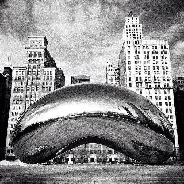 City Scenes Wall Art - Photograph - Chicago Bean Cloud Gate Photo by Paul Velgos