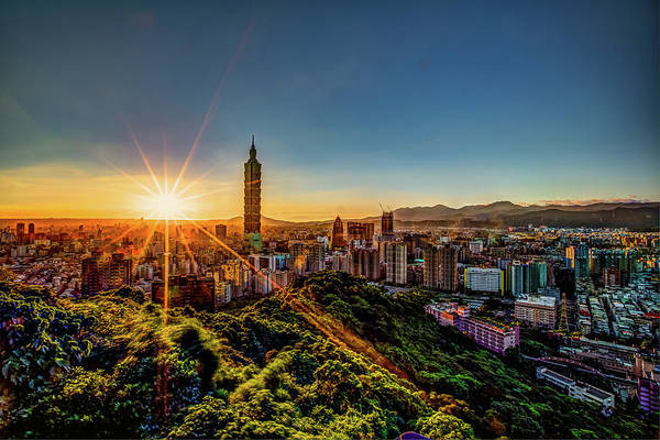 Taiwanese Wall Art - Photograph - Cloudless Sunset by © Copyright 2011 Sharleen Chao