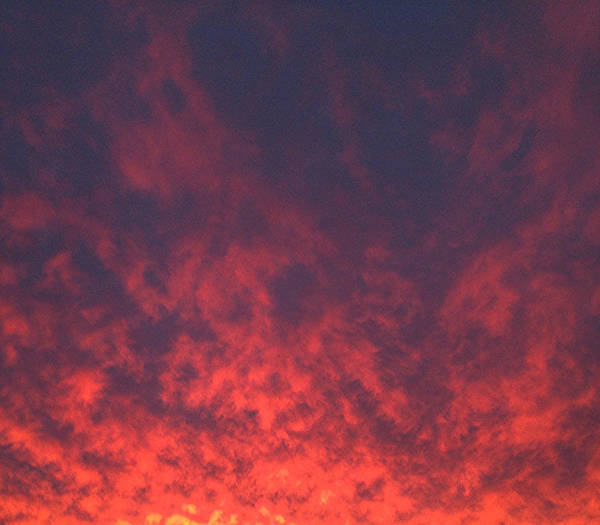 Clouds Ablaze Art Print