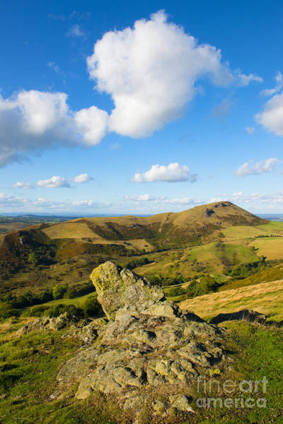 Church Stretton Wall Art - Photograph - Clouds Above Caer Caradoc by John Hayward