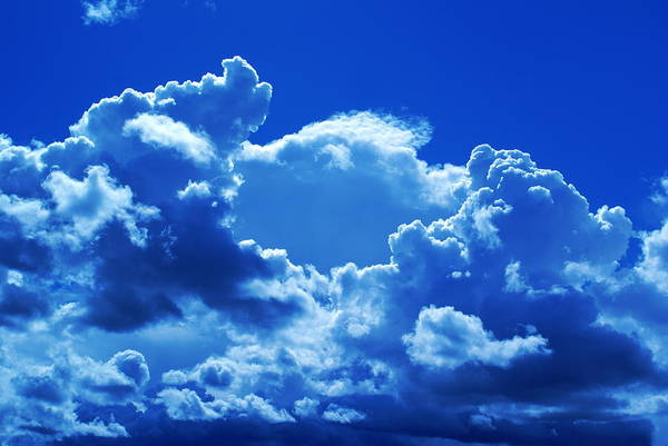 Photograph - Clouds And Blue Sky Day by Ben Upham III