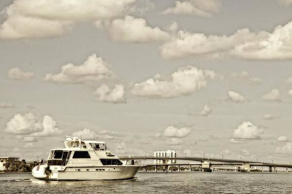 Photograph - Clouds And Boats Two by Alice Gipson