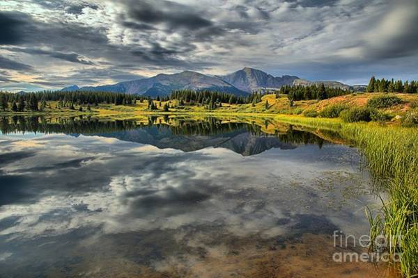 Photograph - Clouds And Mountains In The Water by Adam Jewell