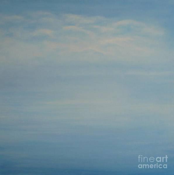 Painting - Clouds And Ocean by Monika Shepherdson