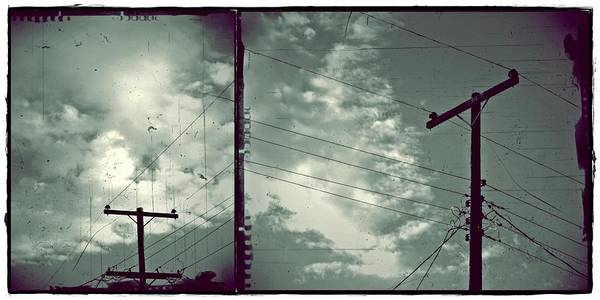 Clouds And Power Lines Art Print