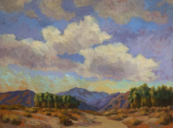 Wall Art - Painting - Clouds At Coachella Valley by Diane McClary