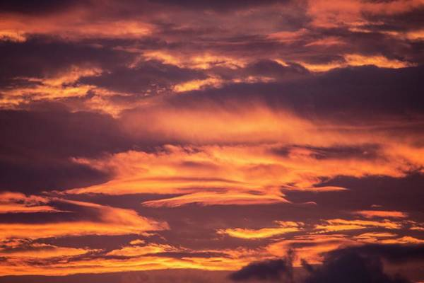 Geographical Wall Art - Photograph - Clouds At Sunset by Chris Madeley