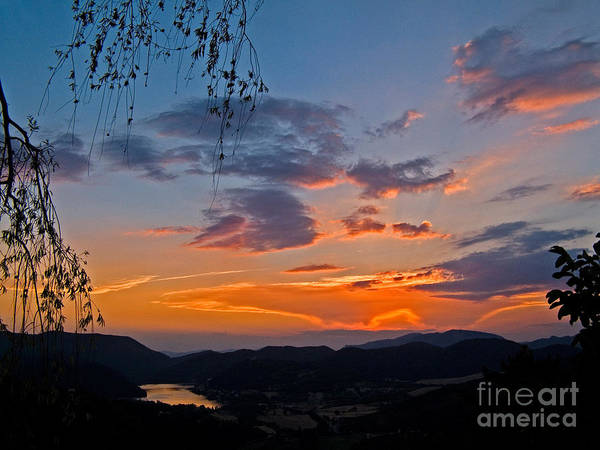Photograph - Clouds At Sunset by Tim Holt