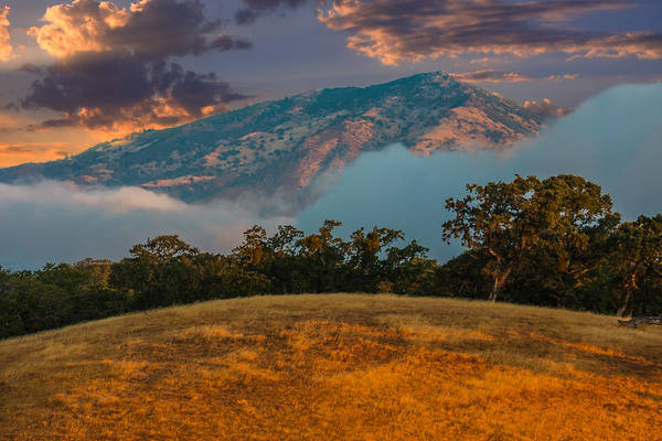 Mt. Diablo Wall Art - Photograph - Clouds Fog And Mt Diablo by Marc Crumpler