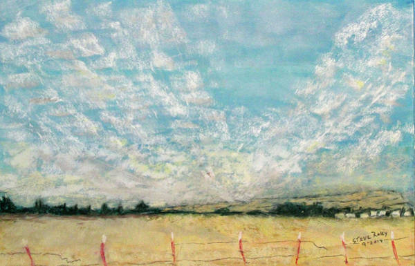 Raley Field Wall Art - Pastel - Clouds From Raley Blvd by Stephen Raley