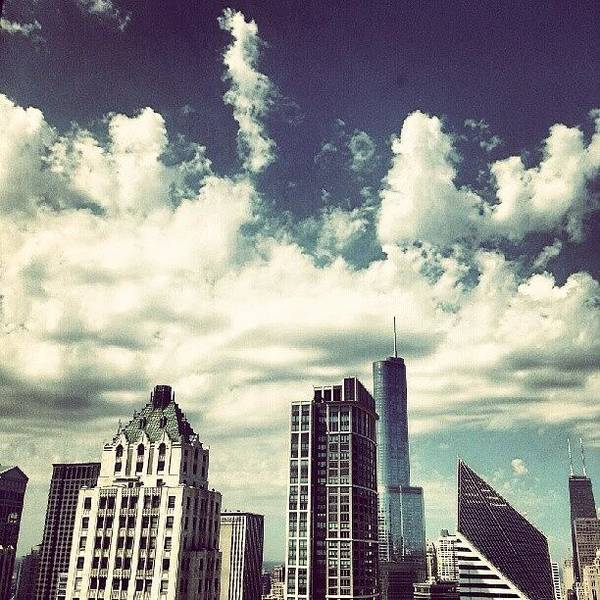 Buildings Wall Art - Photograph - Clouds by Jill Tuinier