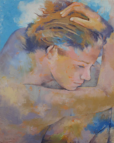 Frau Painting - Clouds by Michael Creese