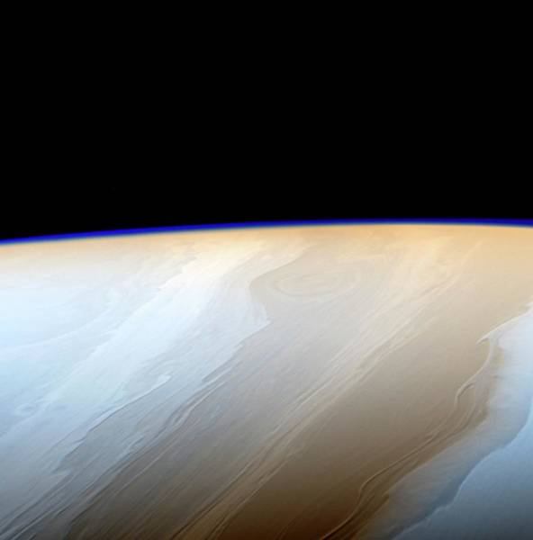Ir Photograph - Clouds On Saturn by Nasa/jpl-caltech/space Science Institute/science Photo Library