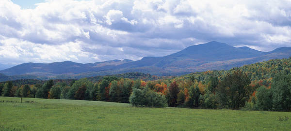 Peacefulness Photograph - Clouds Over A Grassland, Mt Mansfield by Panoramic Images