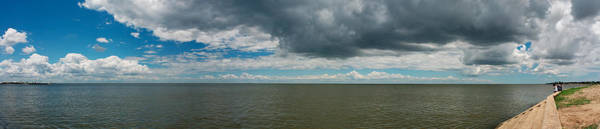 Peacefulness Photograph - Clouds Over A Lake, Lake Pontchartrain by Panoramic Images