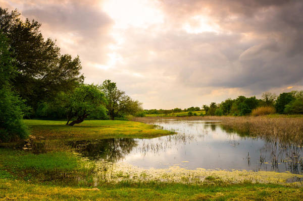 Wall Art - Photograph - Clouds Over A Pond At Washington On The Brazos - Texas by Ellie Teramoto