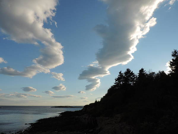 Casco Bay Photograph - Clouds Over Casco Bay by Bill Tomsa