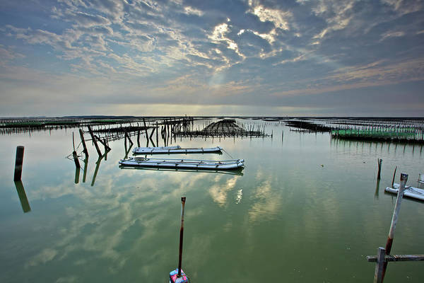 Raft Photograph - Clouds Over Chigu Lagoon by Sunrise@dawn Photography
