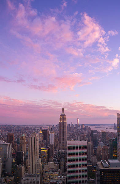 Photograph - clouds over Empire State by Rima Biswas