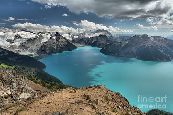 Photograph - Clouds Over Garibaldi Glacier Lake by Adam Jewell