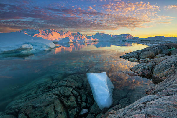 Clouds Over Ilulissat Icefjord Art Print by Johnathan Ampersand Esper