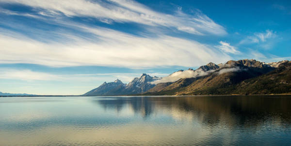 Photograph - Clouds Over Jackson Lake by TL  Mair