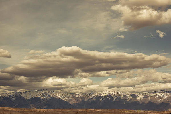 Inyo Mountains Photograph - Clouds Over Sierra Nevada Mountains by Panoramic Images