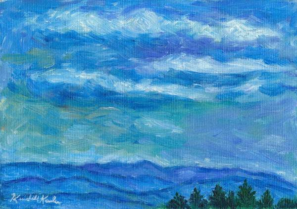 Painting - Clouds Over The Blue Ridge by Kendall Kessler