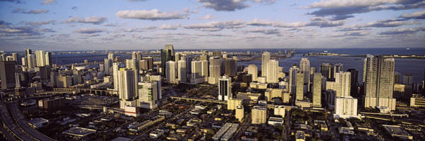 Dade Photograph - Clouds Over The City Skyline, Miami by Panoramic Images