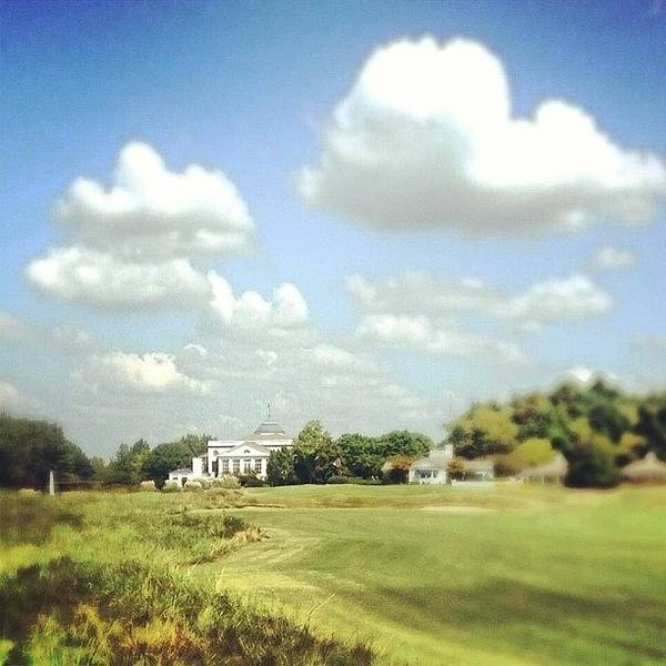 Beauty Wall Art - Photograph - Clouds Over The Club House #iphone5 by Scott Pellegrin