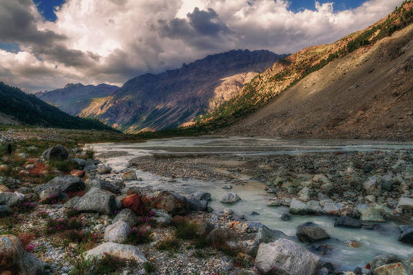 Photograph - Clouds Over The Mountain Stream by Roberto Pagani