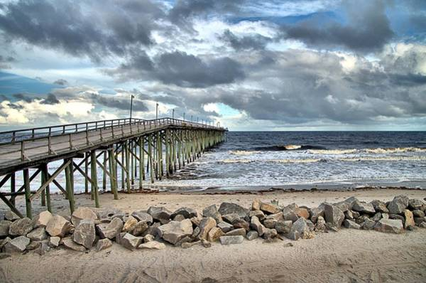Photograph - Clouds Over The Pier by Willard Killough III