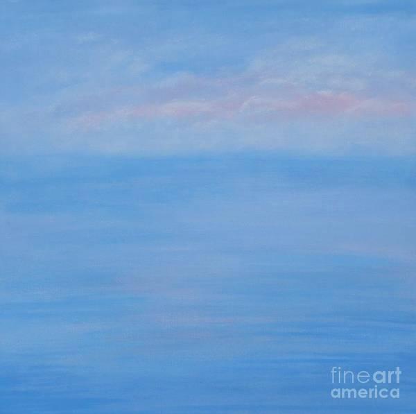 Painting - Clouds Pink And Ocean by Monika Shepherdson