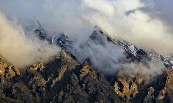 Wall Art - Photograph - Clouds Shrouding Mountain Range, New by Johnathan Ampersand Esper