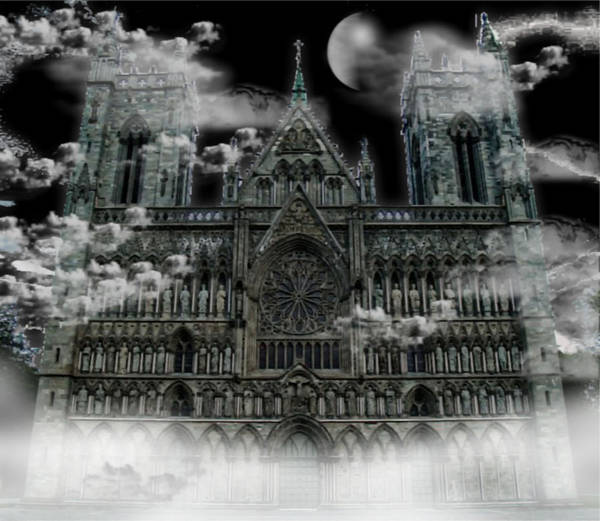 Photograph - Cloudy Cathedral by Digital Art Cafe