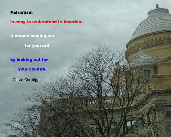 Photograph - Cloudy Courthouse by Christina Verdgeline