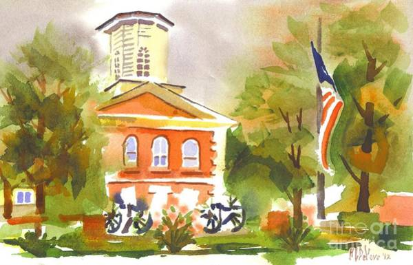 Painting - Cloudy Day At The Courthouse by Kip DeVore