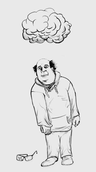 Danny Devito Wall Art - Digital Art - Cloudy Day For Mr Reynolds by Bob Gruber
