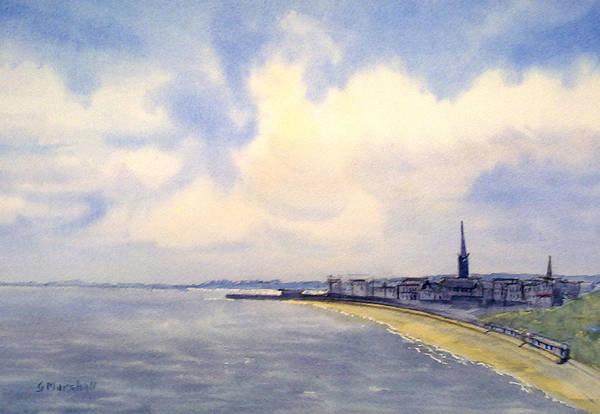 Bridlington Painting - Cloudy Day Over Bridlington by Glenn Marshall