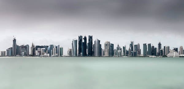 Water Tower Photograph - Cloudy Doha .. by Ahmed Lashin