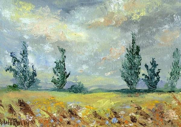 Painting - Cloudy Landscape Before The Rain by Ekaterina Chernova