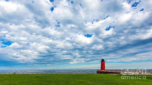 Mke Photograph - Cloudy Milwaukee Harbor by Andrew Slater