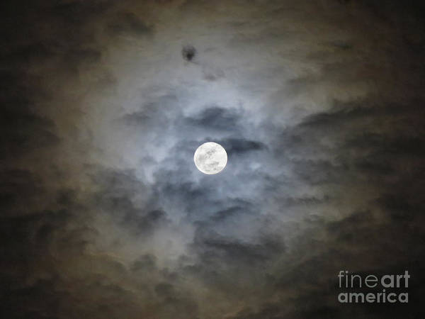 Cloudy Moon 2 Art Print