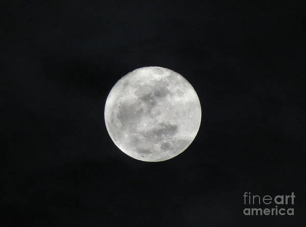 Cloudy Moon Art Print